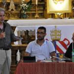 L'incontro alla chiesa della Croce sullo stemma papale di Pio IX