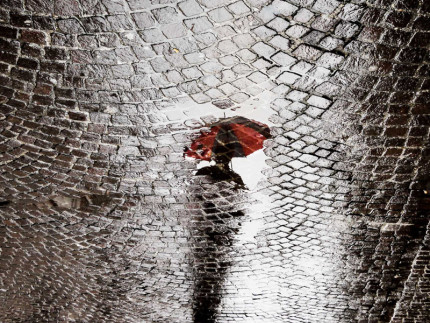"""La foto di Alberto Polonara usata per la locandina della mostra """"Serene giornate di pioggia"""""""