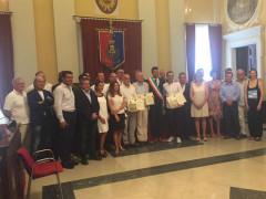 Il Consiglio Comunale di Senigallia con i cittadini onorari Ceresa, Cirri e Solibello