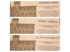 Conferimento della cittadinanza a Ceresa, Cirri e Solibello