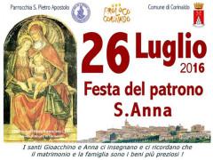 Locandina per le celebrazioni a Corinaldo per la Festa di Sant'Anna