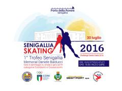 Locandina del trofeo Senigallia Skating - Memorial Daniele Balducci
