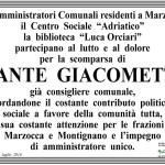 Manifesto funebre per Dante Giacometti