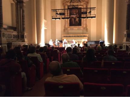 Auditorium San Rocco, protesta stemmi