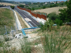 La complanare sud di Senigallia vista dalla collina sulla galleria del Cavallo