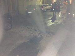 Tubatura rotta in via Baroccio