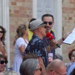 Filippo Solibello con uno spettatore