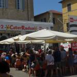 Assolato CaterRaduno 2016 in piazza Roma, a Senigallia