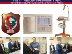 La consegna di un nuovo elettrocardiografo all'ospedale di comunità di Arcevia