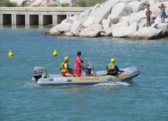 Il gommone della Croce Rossa Italiana di Senigallia per il soccorso in mare ai bagnanti