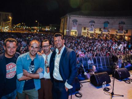 Memè, Piccinini, Di Liberto, Mangialardi e il pubblico del Summer Jamboree 2016 - Foto Simone Luchetti