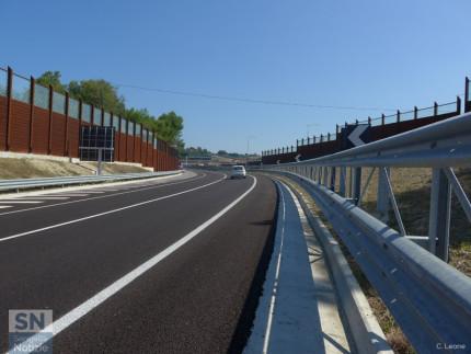 La complanare, tratto sud, aperta il 26 agosto 2016 (direzione sud)