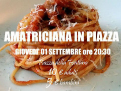 """Amatriciana in piazza"""