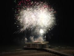 I fuochi d'artificio 2016 dalla Rotonda di Senigallia. Foto tratta da Facebook