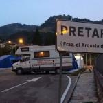 Terremoto del 24 agosto: La Croce Rossa di Senigallia a Pretare, con il proprio camper adibito a segreteria per le attività di soccorso