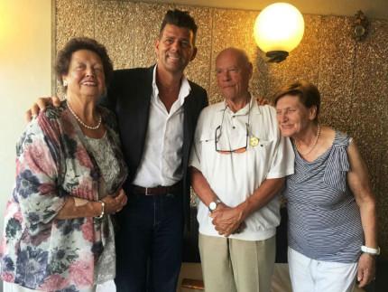 Il sindaco Mangialardi con la famiglia Jancke da Lorrach