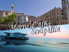 Locandina della fusione tra Morro d'Alba e Senigallia