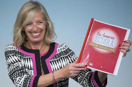 """Il ministro all'istruzione Stefania Giannini presenta la riforma del sistema scolastico """"La buona scuola"""""""