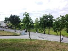 Uno scorcio dell'area del campus scolastico a Serra de' Conti