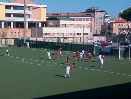 Un momento del match tra FC Senigallia e Moie Vallesina allo stadio Bianchelli di Senigallia