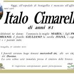 Manifesto funebre per Italo Cimarelli