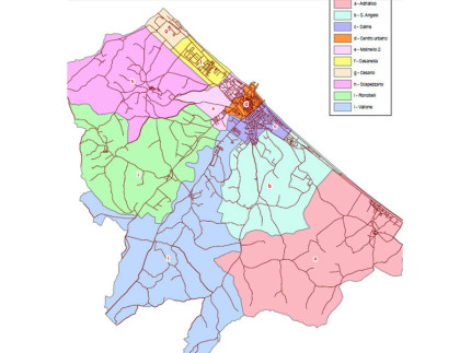 La mappa dei centri civici di Senigallia