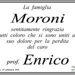 Manifesto di ringraziamento della famiglia Moroni