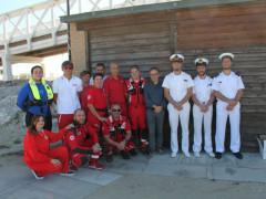 Soccorso in mare a Senigallia: gli operatori