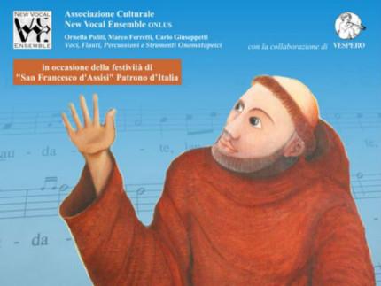 La locandina del New Vocal Ensemble in concerto ad Assisi