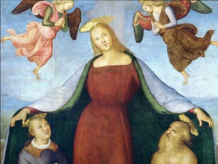 """La """"Madonna della Misericordia con i Santi Stefano e Girolamo e committenti"""" di Pietro Perugino"""