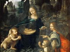 """La """"Vergine delle rocce"""", capolavoro assoluto di Leonardo Da Vinci conservato al Louvre di Parigi"""