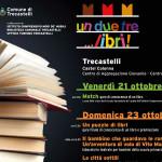 """La locandina della manifestazione """"Un, due, tre.... libri!"""" a Trecastelli"""