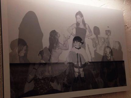 """Una delle opere esposte con la mostra fotografica """"Fantasmi"""" a La Via Granda Cafè di Senigallia"""