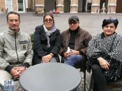 I componenti del comitato per il no di Senigallia alla fusione con Morro d'Alba: da sx Riccardo Pizzi, Elisabetta Palma, Leonardo Badioli e Catia Fronzi