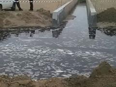 Lo sversamento nel fosso della Giustizia alla Cesanella di Senigallia di acque nere bloccate con barriere di sabbia