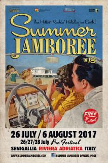 Il manifesto del Summer Jamboree 2017, edizione numero 18