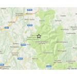 La mappa della seconda scossa di terremoto verificatasi nel maceratese