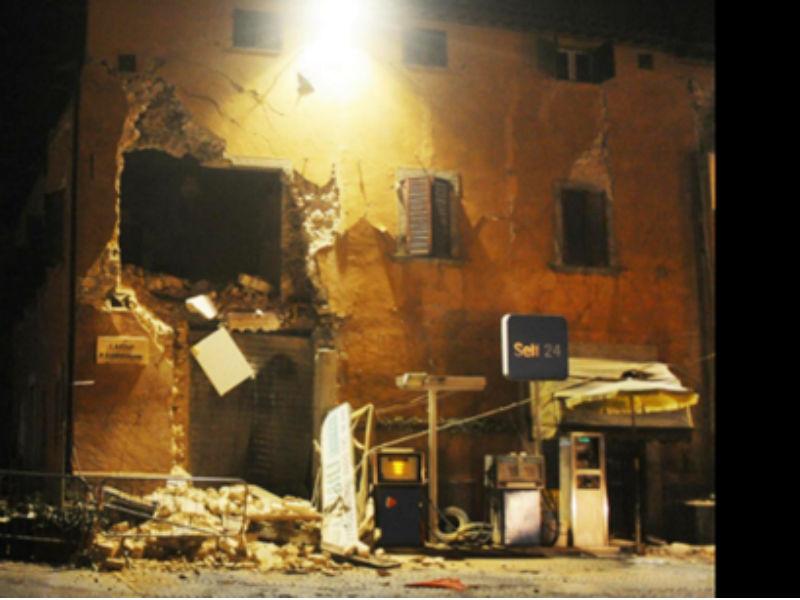 Terremoto nella serata del 26 ottobre