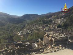 La frazione di Pescara del Tronto dopo la scossa di terremoto del 30 ottobre 2016