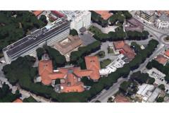 L'area ospedaliera di via Cellini a Senigallia, vista dai satelliti. Mappa e dati cartografici Google