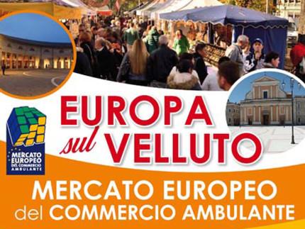 La locandina del Mercato Europeo Ambulante che farà tappa a Senigallia