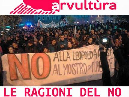 Locandina dell'incontro per il no alla riforma costituzionale promosso dallo spazio autogestito Arvultùra di Senigallia