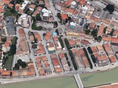 """Le strade del rione Porto di Senigallia """"fotografate"""" nella mappa di Google"""