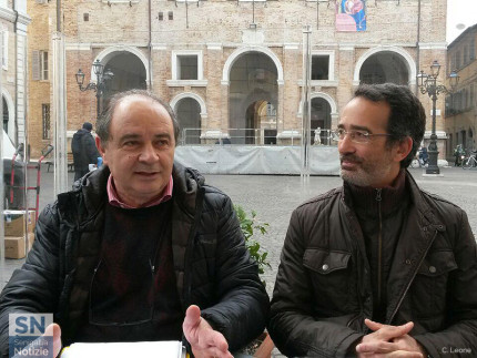 I due esponenti di Senigallia Bene Comune, Giorgio Sartini (sx) e Riccardo Pizzi (dx)