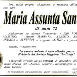 E' mancata all'affetto dei suoi cari Maria Assunta Santini