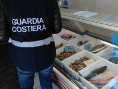 Sequestro prodotti ittici da parte della Guardia Costiera