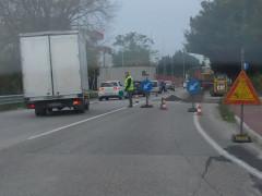 Il traffico sulla s.p. Arceviese a Senigallia per i lavori stradali in corso