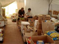 raccolta di prodotti alimentari per i terremotati delle Marche