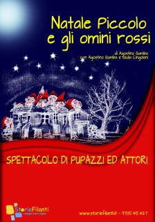 """La locandina dello spettacolo """"Natale Piccolo e gli omini rossi"""""""