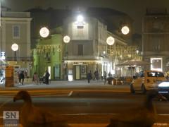 Piazza Saffi a Senigallia, illuminata con le luci di Natale 2016